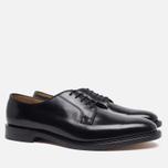 Loake Plain Derby Polished Men's Shoes Black photo- 1