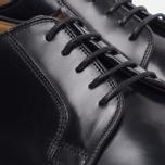 Loake Plain Derby Polished Men's Shoes Black photo- 4