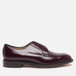 Мужские ботинки Loake Plain Derby Polished Burgundy фото- 0