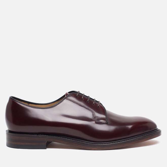 Мужские ботинки Loake Plain Derby Polished Burgundy
