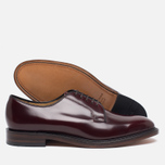 Мужские ботинки Loake Plain Derby Polished Burgundy фото- 2