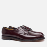 Мужские ботинки Loake Plain Derby Polished Burgundy фото- 1