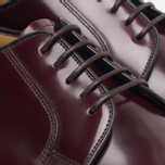 Мужские ботинки Loake Plain Derby Polished Burgundy фото- 4