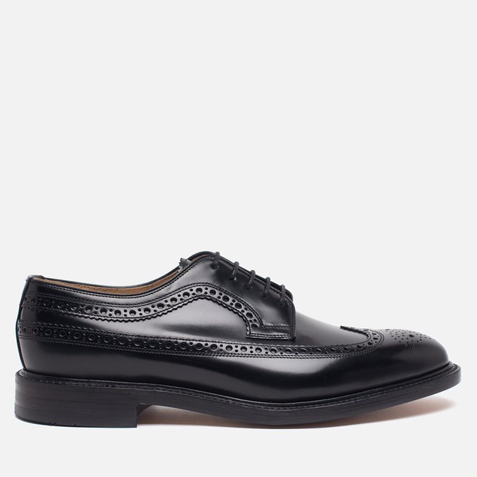 Мужские ботинки броги Loake Royal Polished Black