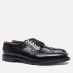 Мужские ботинки броги Loake Royal Polished Black фото- 1