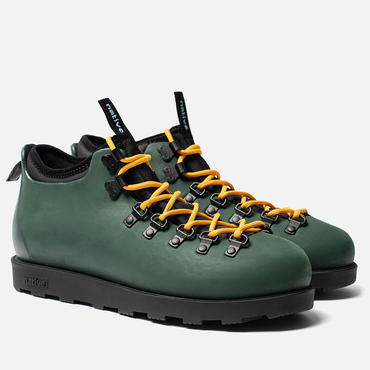 Ботинки Native Fitzsimmons Dark Spooky Green/Jiffy Black