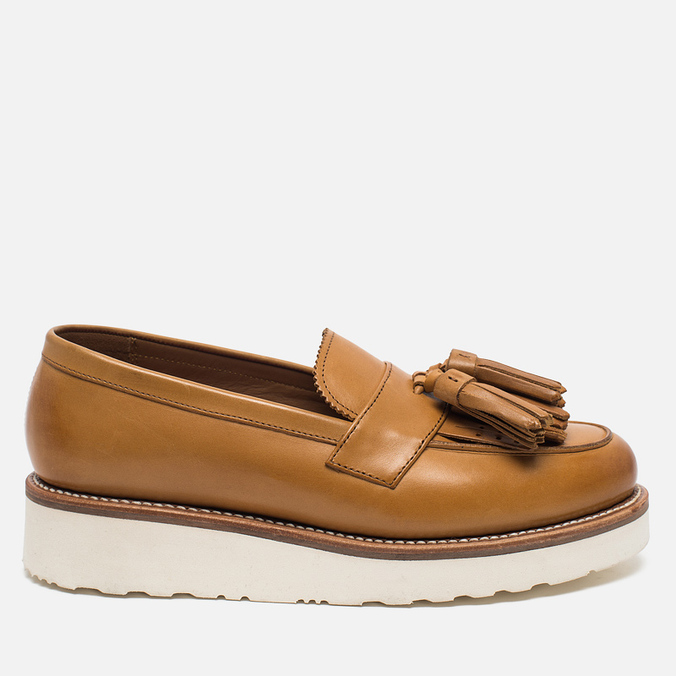 Женские ботинки лоферы Grenson Clara Loafer Sole Wedge Tan