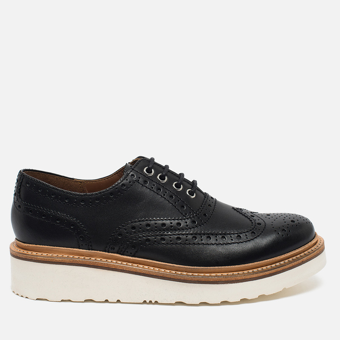 Женские ботинки броги Grenson Emily Brogue Sole Wedge Black