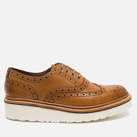 Grenson Emily Brogue Women's Shoes Tan