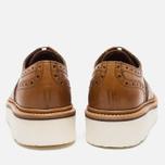 Женские ботинки броги Grenson Emily Brogue Sole Wedge Tan фото- 4