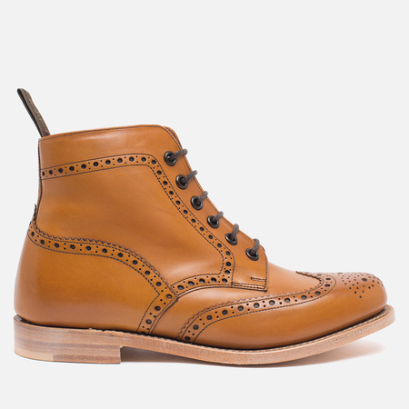 Loake Anne Calf Brogue Women's Shoes Tan