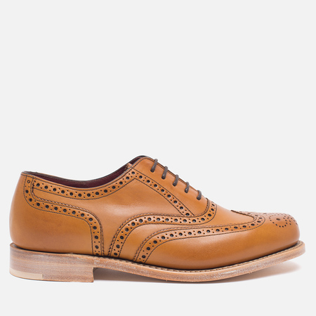 Loake Viv Calf Brogue Women's Shoes Tan