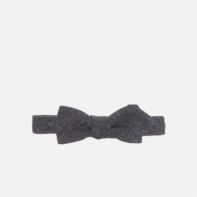 The Hill-Side Herringbone Tweed Bow Tie Navy