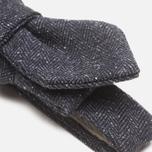 The Hill-Side Herringbone Tweed Bow Tie Navy photo- 1