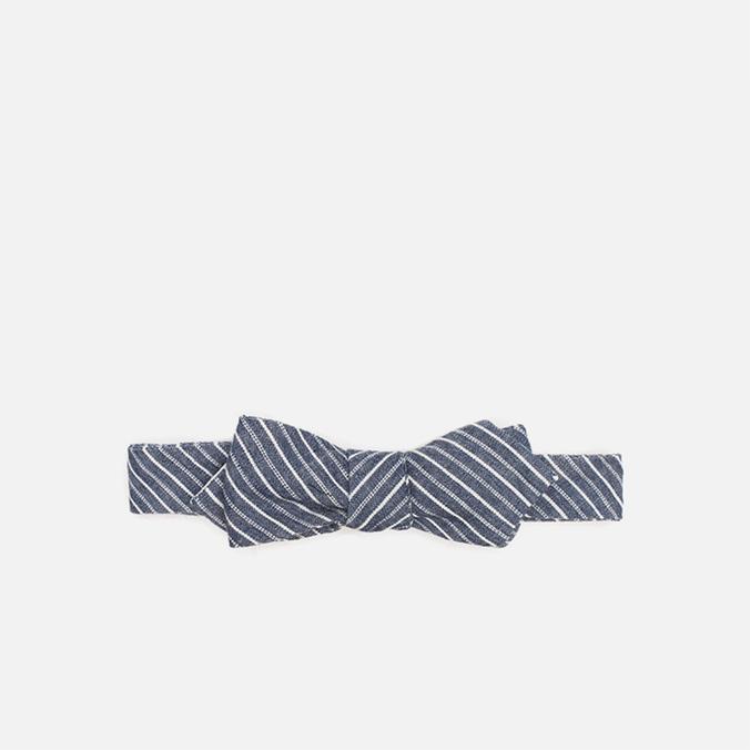 Мужской галстук-бабочка The Hill-Side Selvedge Double Stripe Indigo