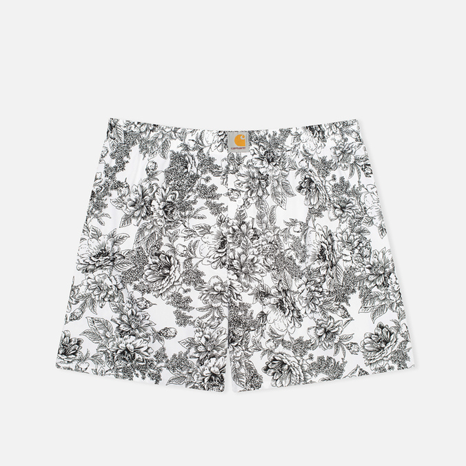 Мужские трусы Carhartt WIP Wild Rose Print Short White/Black