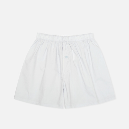 Norse Projects Cotton Poplin Men's Boxer Shorts Light Blue
