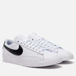 Женские кроссовки Nike Blazer Low Croc White/Black