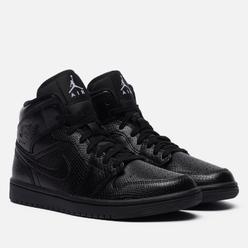 Женские кроссовки Jordan Air Jordan 1 Mid Snakeskin Black/Black/White