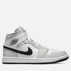 Кроссовки Jordan Wmns Air Jordan 1 Mid Grey Fog/Black/White