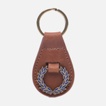 Брелок для ключей Fred Perry Laurel Wreath Leather Tan фото- 0