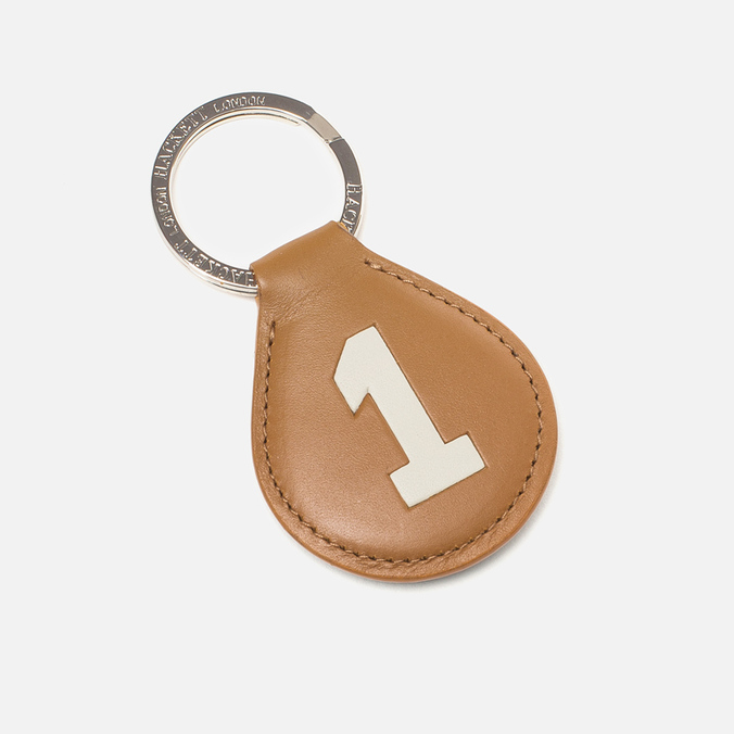 Hackett Numbered Key Ring Tan/Green