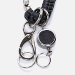 Брелок для ключей Master-piece Carabiner Leather Equipment Series Black фото- 1