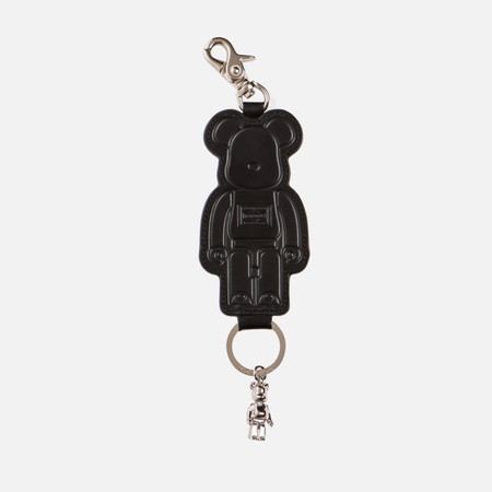 Брелок для ключей Medicom Toy Bearbrick x Porter Leather Key Chain Black