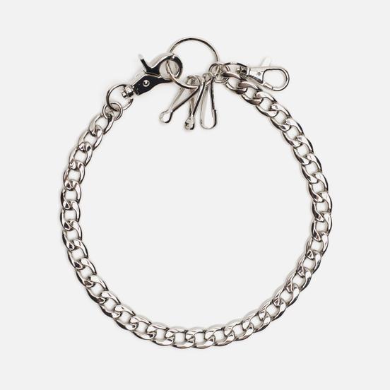 Брелок для ключей MKI Miyuki-Zoku Curb Jeans Chain Silver