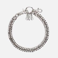 Брелок для ключей MKI Miyuki-Zoku Filed Curb Jeans Chain Silver