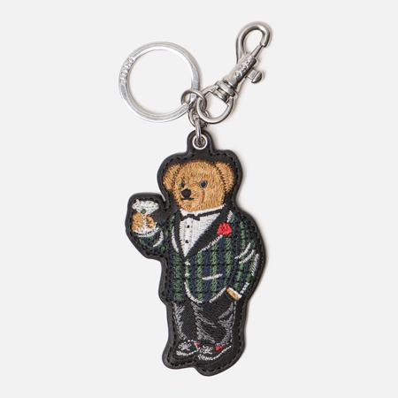 Брелок для ключей Polo Ralph Lauren Bear Key Smooth Leather Black