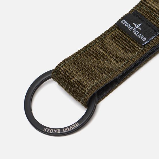 Брелок для ключей Stone Island Lanyard Nylon Tape Loop Olive Green
