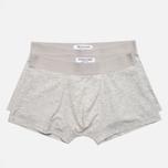 Democratique Underwear Superior Men's Boxer Briefs Light Grey Melange photo- 0