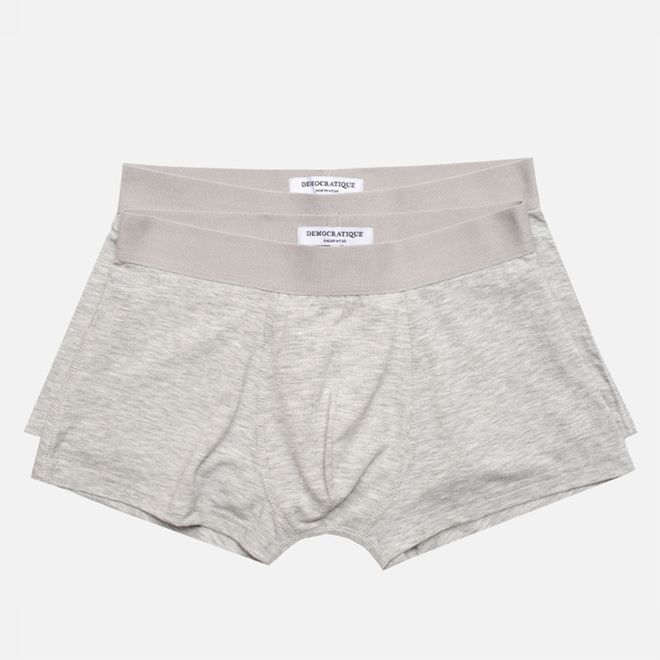 Комплект мужских трусов Democratique Underwear Superior Light Grey Melange