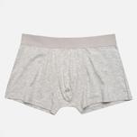 Democratique Underwear Superior Men's Boxer Briefs Light Grey Melange photo- 2