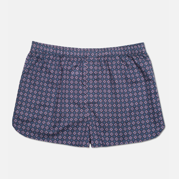 Derek Rose Slim Fit Nelson Men's Boxer Shorts Dutch Navy