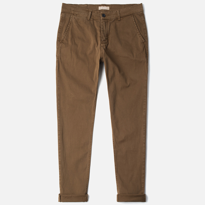 Velour Adan Chino Men`s Trousers Spring Time Brown