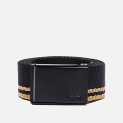 Ремень Fred Perry Tipped Webbing Black/Black/Champagne