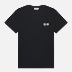 Мужская футболка Maison Kitsune Double Fox Head Patch Anthracite