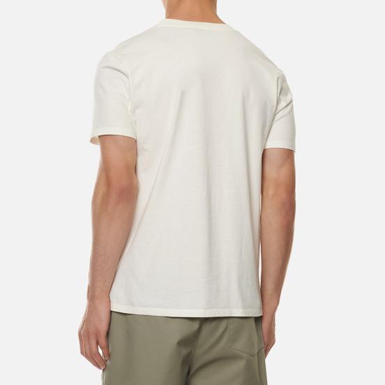 Мужская футболка Maison Kitsune Double Fox Head Patch Latte