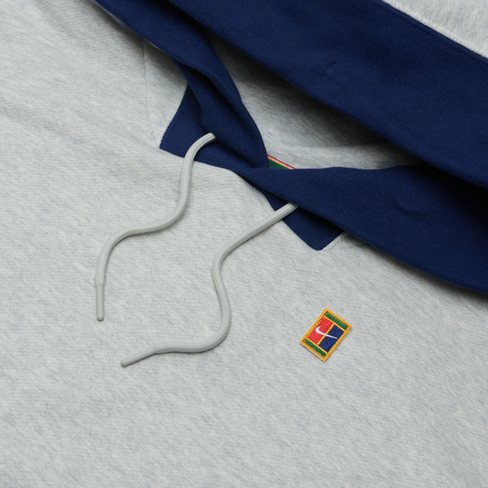 Мужская толстовка Nike Court Fleece Hoodie Grey Heather/Gorge Green