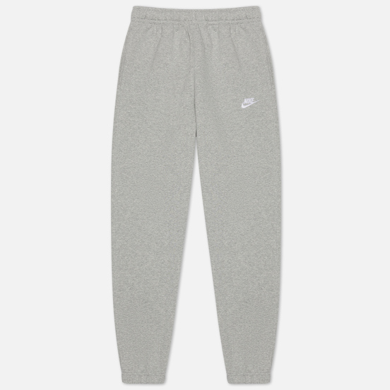 Мужские брюки Nike Club Fleece BB Dark Grey Heather/Matte Silver/White