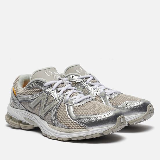 Мужские кроссовки New Balance x Dime 860v2 Silver/White