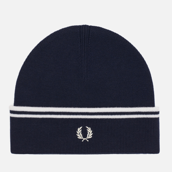 Шапка Fred Perry Twin Tipped Merino Dark Navy/Snow White
