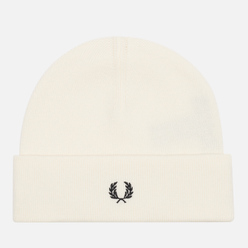 Шапка Fred Perry Knitted Merino Wool Ecru