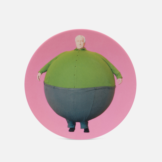 Тарелка Ligne Blanche Erwin Wurm The Artist Who Swallowed The World Pink Medium недорого