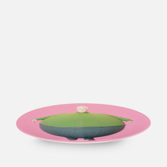 Тарелка Ligne Blanche Erwin Wurm The Artist Who Swallowed The World Pink Medium