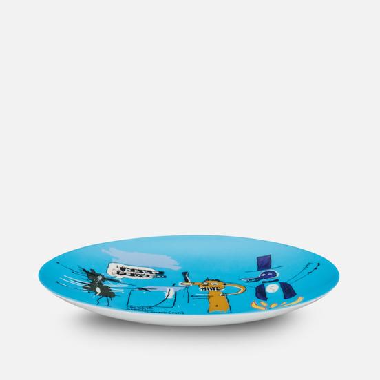 Тарелка Ligne Blanche Jean-Michel Basquiat Keep Frozen Blue Medium