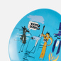 Тарелка Ligne Blanche Jean-Michel Basquiat Keep Frozen Blue Medium фото - 2