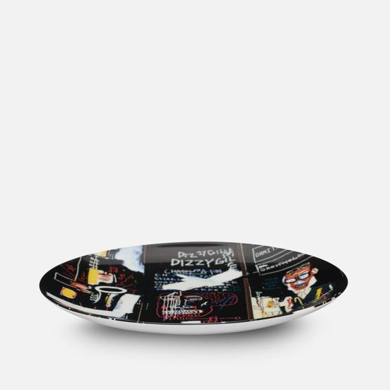Тарелка Ligne Blanche Jean-Michel Basquiat Horn Players Black Medium